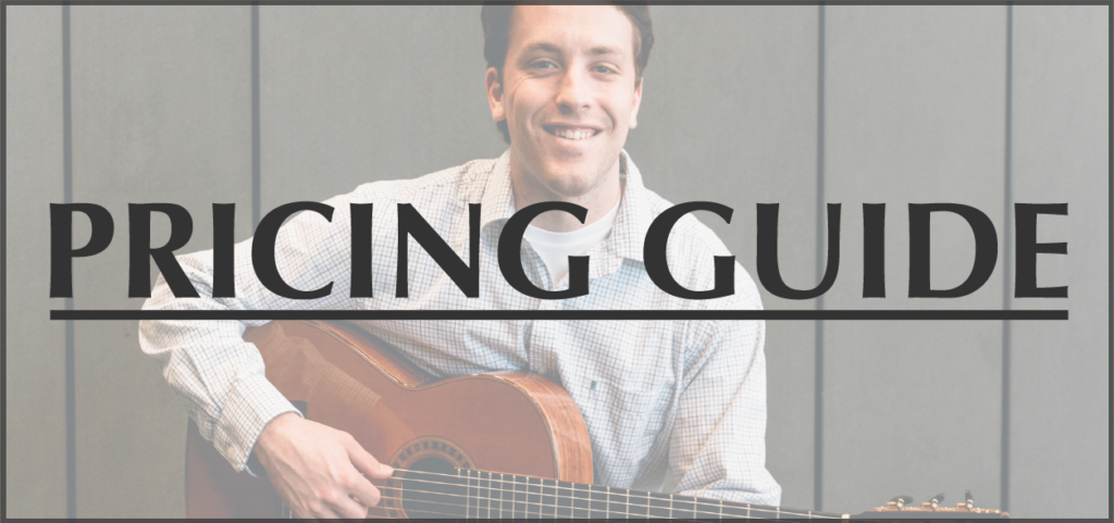 Andy Mauch - wedding ceremony pricing guide